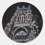 Negro de la iglesia de monasterio de York Pegatina Redonda