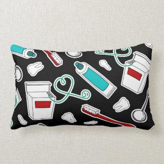 Negro de la impresión del dentista lindo/del higie almohada