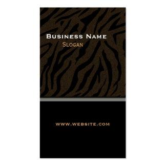 Negro de la impresión del tigre masculino plantilla de tarjeta de negocio