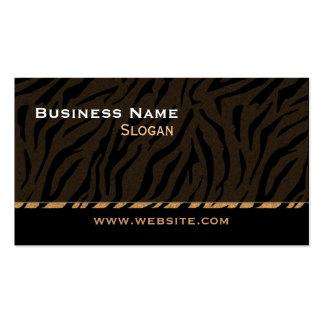 Negro de la impresión del tigre masculino tarjetas de visita