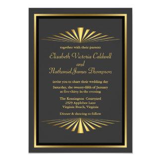 Negro de la invitación el | del boda de la