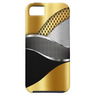 Negro de la malla de la plata del oro del coche de funda para iPhone SE/5/5s