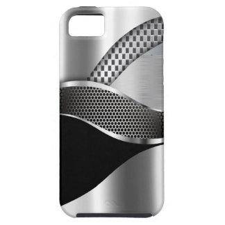 Negro de la malla de la plata metalizada del coche funda para iPhone SE/5/5s