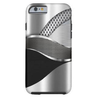 Negro de la malla de la plata metalizada del coche funda resistente iPhone 6