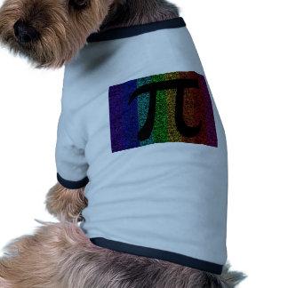 Negro de la muestra del pi camiseta con mangas para perro