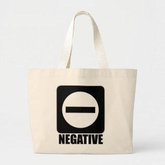 Negro de la negativa 1 bolsas lienzo