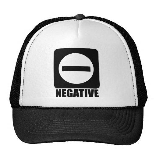 Negro de la negativa 1 gorras