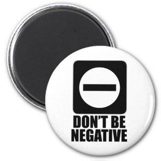 Negro de la negativa 2 imán redondo 5 cm