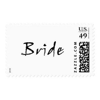 negro de la novia sellos postales
