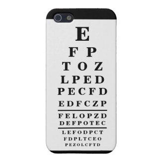 Negro de la optometría de la carta del optometrist iPhone 5 carcasas