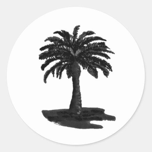 Negro de la palmera los regalos de Zazzle del MUSE Etiquetas
