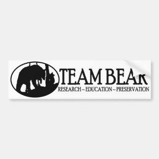 Negro de la pegatina para el parachoques del oso d pegatina de parachoque
