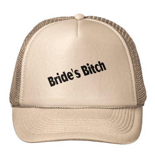 Negro de la perra de las novias gorra