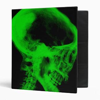 """Negro de la radiografía del cráneo y verde del neó carpeta 1"""""""