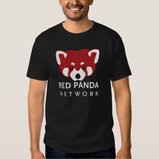 Negro de la red de la panda roja playeras