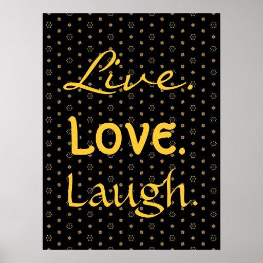 Negro de la risa del amor y modelo de estrellas vi póster