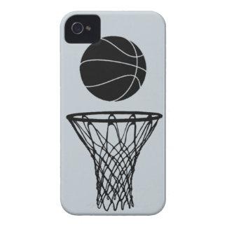 negro de la silueta del baloncesto del iPhone 4 en iPhone 4 Protectores