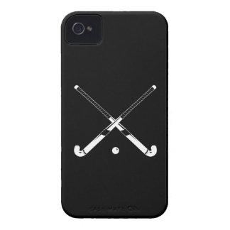 negro de la silueta del hockey hierba del iPhone 4 iPhone 4 Cobertura