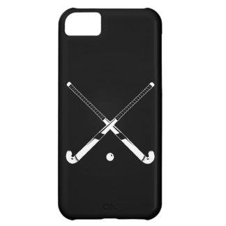 negro de la silueta del hockey hierba del iPhone 5