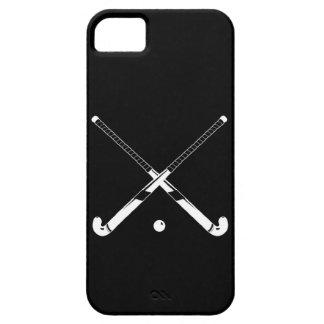negro de la silueta del hockey hierba del iPhone 5 iPhone 5 Carcasas