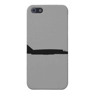 Negro de la silueta del vigilante de los E.E.U.U. iPhone 5 Carcasas