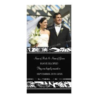 Negro de la tarjeta de la foto de la invitación de tarjeta fotografica