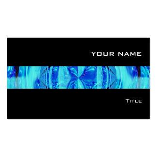 Negro de la tarjeta de visita de la raya azul del