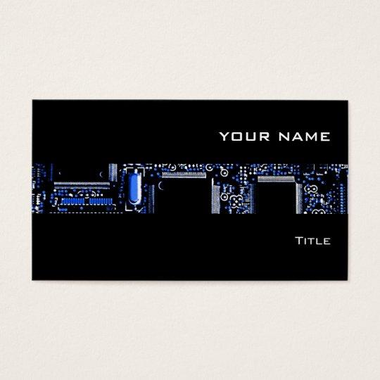 Negro de la tarjeta de visita de la raya del azul