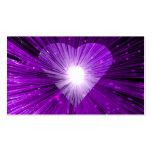 Negro de la tarjeta de visita de Purple Heart