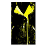 Negro de la tarjeta de visita del amarillo de la c