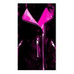 Negro de la tarjeta de visita del rosa de la chaqu
