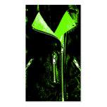 Negro de la tarjeta de visita del verde de la chaq