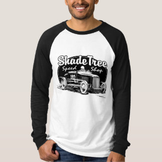 Negro de la tienda de la velocidad del árbol de playera