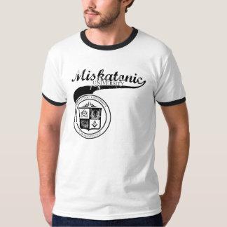 Negro de la universidad de Miskatonic en gris Playeras