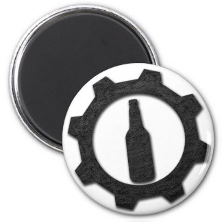 Negro de las cervezas imán redondo 5 cm