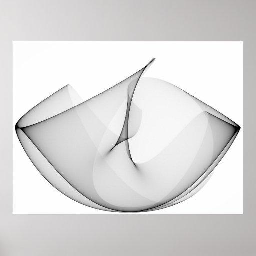 Negro de las curvas de seno del arte de Op. Sys. t Impresiones