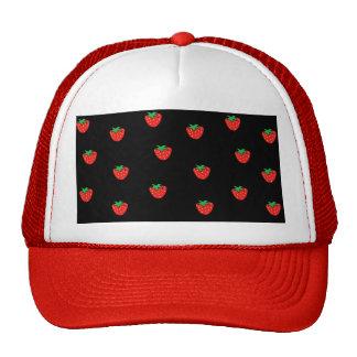 Negro de las fresas gorras de camionero