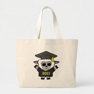 Negro de las ovejas del muchacho y graduado 2011 d bolsa tela grande