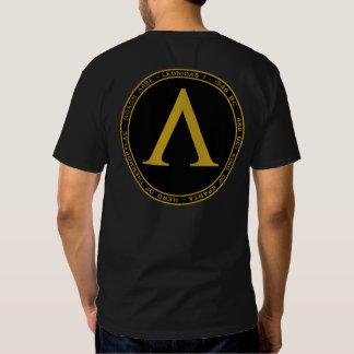 Negro de Leonidas I y camisa del sello del oro