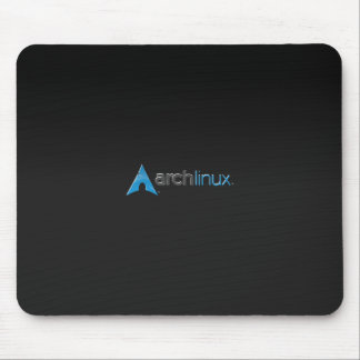 Negro de Linux del arco Alfombrillas De Ratones