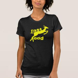negro de los alimentos de preparación rápida camiseta