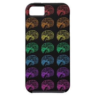 Negro de los cerebros del arco iris funda para iPhone 5 tough