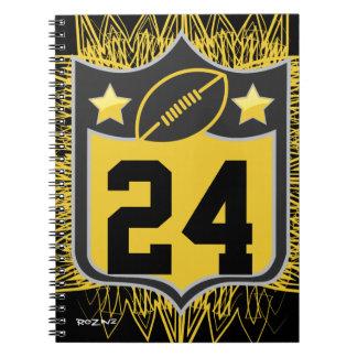 Negro de los deportes de los E E U U del equipo y Libro De Apuntes