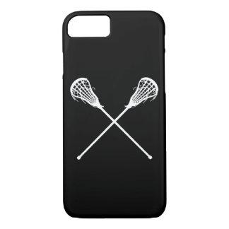 negro de los palillos de LaCrosse del caso del Funda iPhone 7