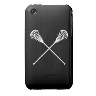 negro de los palillos de LaCrosse del iPhone 3 iPhone 3 Carcasas