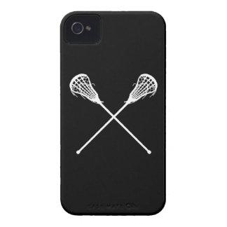negro de los palillos de LaCrosse del iPhone 4 iPhone 4 Funda