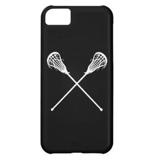 negro de los palillos de LaCrosse del iPhone 5 Funda Para iPhone 5C