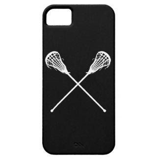 negro de los palillos de LaCrosse del iPhone 5 iPhone 5 Fundas