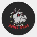 Negro de los perros de diablo del dogo pegatina