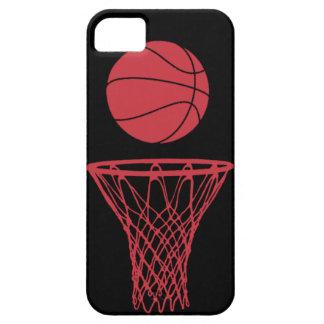 negro de los toros de la silueta del baloncesto de iPhone 5 fundas